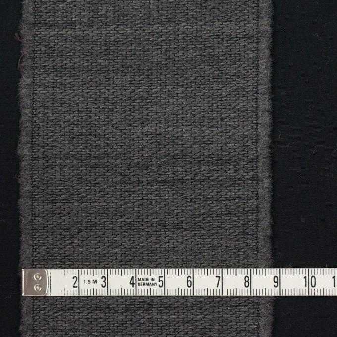 ウール&ポリエステル×ストライプ(チャコールグレー&ブラック)×ジャガード イメージ4