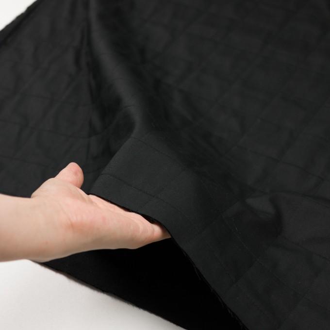 コットン&ウール×無地(ブラック)×ブロード&ビエラ イメージ5