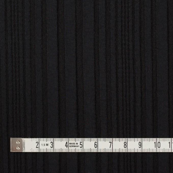 アセテート&ウール混×無地(ブラック)×タテタック イメージ4