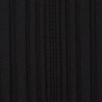 アセテート&ウール混×無地(ブラック)×タテタック サムネイル1