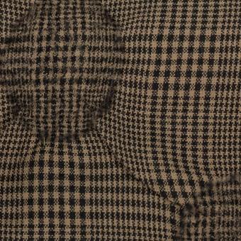 ウール×チェック(モカブラウン)×ポプリン・カットジャガード サムネイル1