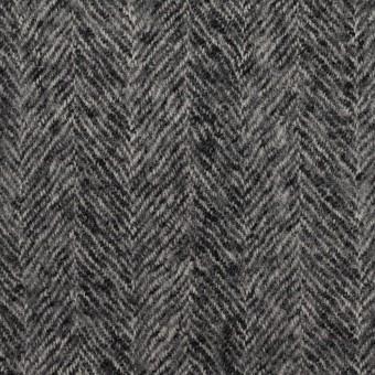 ウール×無地(チャコールグレー)×ヘリンボーン・ガーゼ サムネイル1