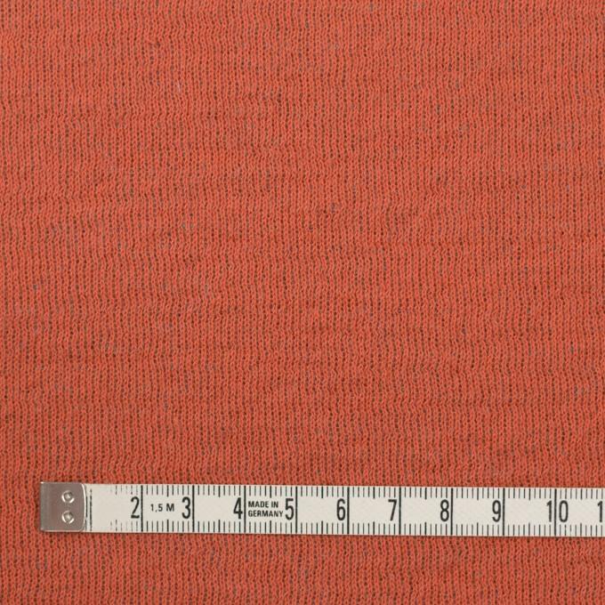 ウール&コットン×無地(オレンジ&グリーンフォグ)×リブ&天竺ニット イメージ4
