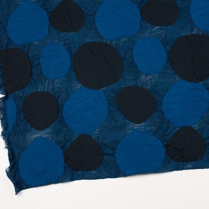 ウール&アクリル混×サークル(マリンブルー)×ジャガードニット_全3色 イメージ2