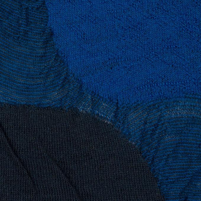 ウール&アクリル混×サークル(マリンブルー)×ジャガードニット_全3色 イメージ1