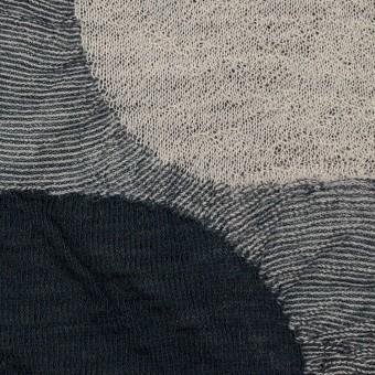 ウール&アクリル混×サークル(グレー)×ジャガードニット_全3色 サムネイル1