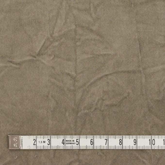 コットン&ポリウレタン×無地(モスグレー)×ベッチンストレッチ・ワッシャー イメージ4