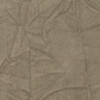 コットン&ポリウレタン×無地(モスグレー)×ベッチンストレッチ・ワッシャー サムネイル1