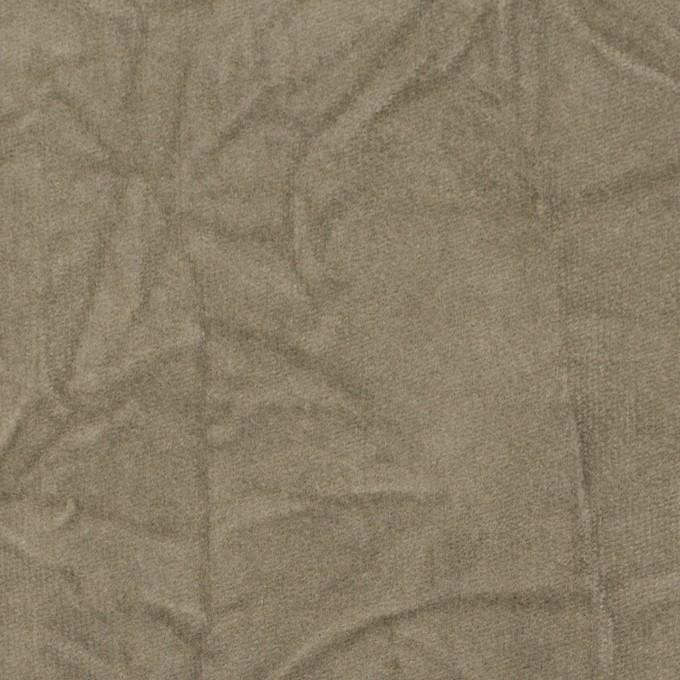 コットン&ポリウレタン×無地(モスグレー)×ベッチンストレッチ・ワッシャー イメージ1