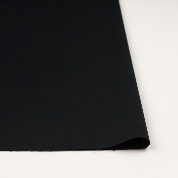 コットン×ポリエステル×無地(ブラック)×サテン_全2色 イメージ3