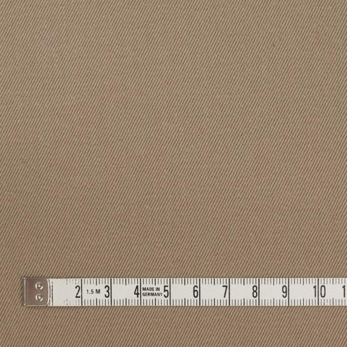 コットン×無地(カーキベージュ)×セルビッチ・カツラギ イメージ4