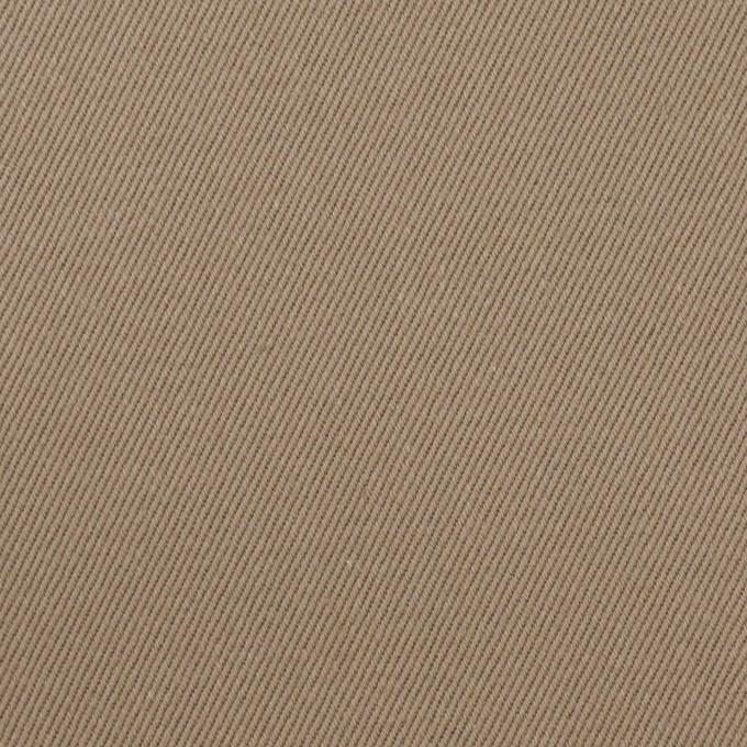 コットン×無地(カーキベージュ)×セルビッチ・カツラギ イメージ1