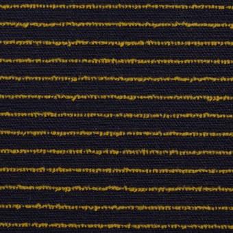コットン×ボーダー(ネイビー&マスタード)×カットジャガード サムネイル1