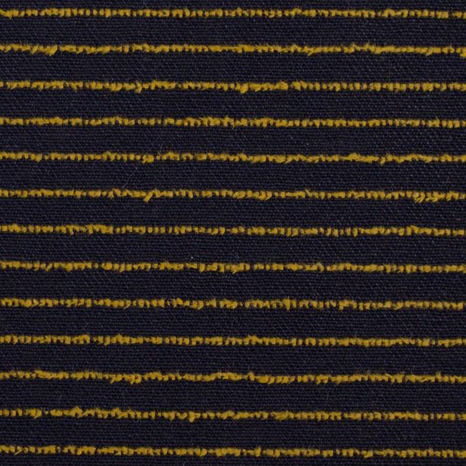 コットン×ボーダー(ネイビー&マスタード)×カットジャガード イメージ1