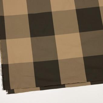 ポリエステル×チェック(ベージュ&ダークブラウン)×形状記憶サージ_全2色 サムネイル2