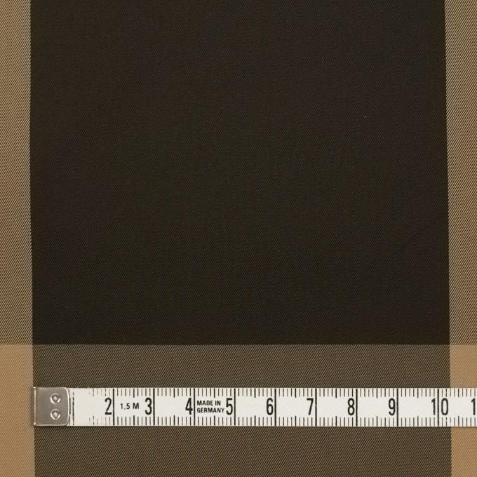 ポリエステル×チェック(ベージュ&ダークブラウン)×形状記憶サージ_全2色 イメージ4