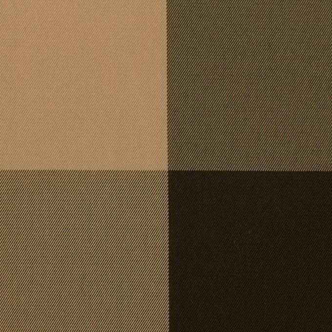 ポリエステル×チェック(ベージュ&ダークブラウン)×形状記憶サージ_全2色 イメージ1