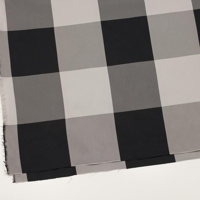 ポリエステル×チェック(ライトグレー&ブラック)×形状記憶サージ_全2色 イメージ2