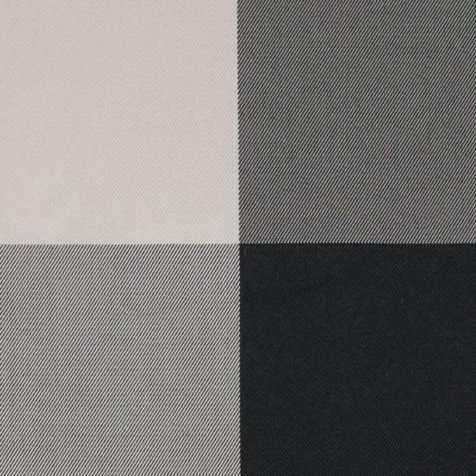 ポリエステル×チェック(ライトグレー&ブラック)×形状記憶サージ_全2色 イメージ1