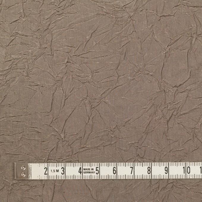 ビスコース&ポリエステル×無地(ローズグレー)×タフタワッシャー(裏芯地貼り)_イタリア製 イメージ4