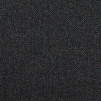 ウール&ナイロン×無地(チャコール)×サージ サムネイル1