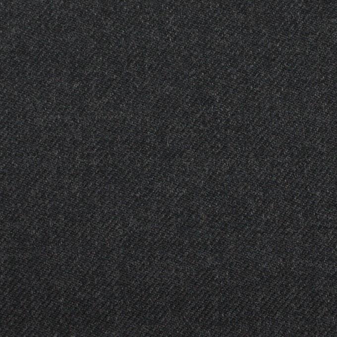 ウール&ナイロン×無地(チャコール)×サージ イメージ1