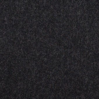 ウール×無地(チャコールブラック)×サージ サムネイル1