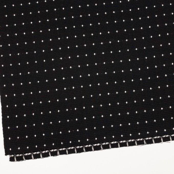 ウール&コットン混×ドット(ブラック)×ドビー イメージ2