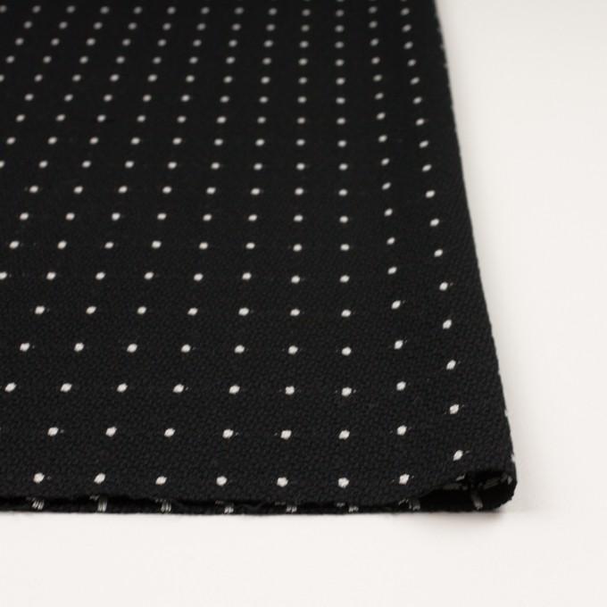 ウール&コットン混×ドット(ブラック)×ドビー イメージ3