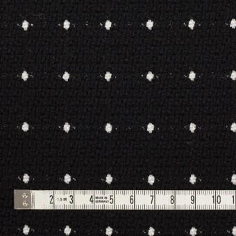 ウール&コットン混×ドット(ブラック)×ドビー サムネイル4