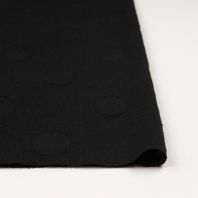 ウール×サークル(ブラック)×カットジャガード イメージ3