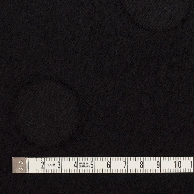 ウール×サークル(ブラック)×カットジャガード イメージ4
