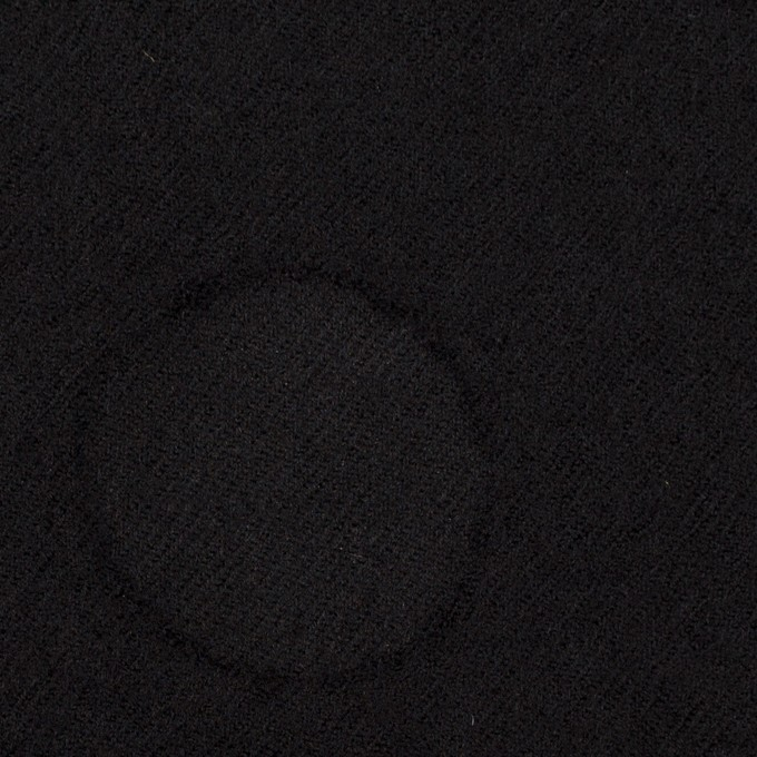 ウール×サークル(ブラック)×カットジャガード イメージ1