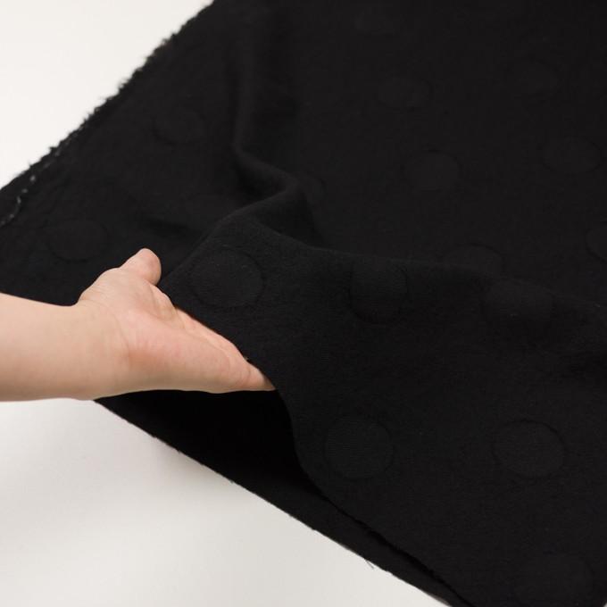 ウール×サークル(ブラック)×カットジャガード イメージ5