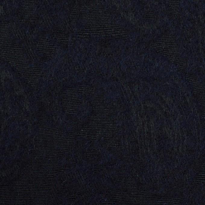 コットン&ウール混×ペイズリー(ダークネイビー)×ジャガード イメージ1