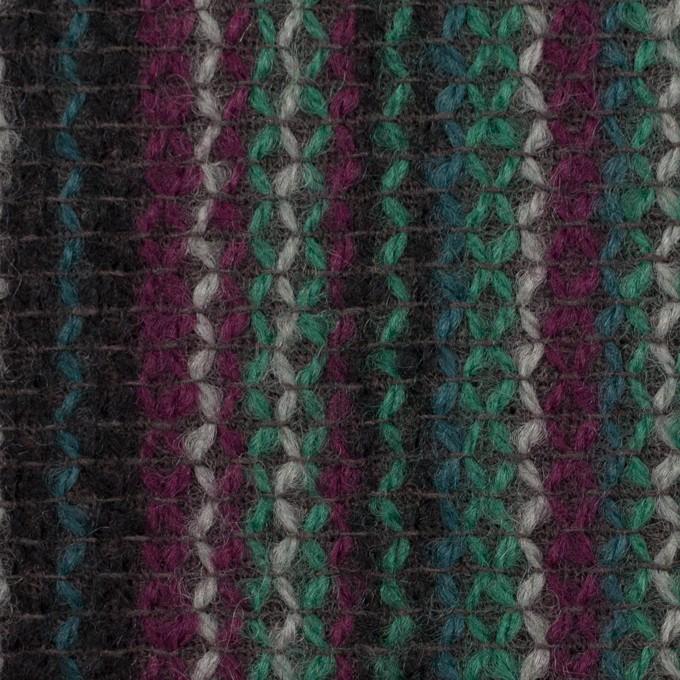 ウール×ストライプ(マルチ)×かわり織 イメージ1