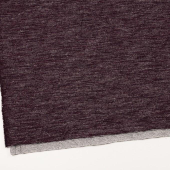 コットン&ウール×無地(ボルドー)×メッシュ&天竺ニット_全3色 イメージ2