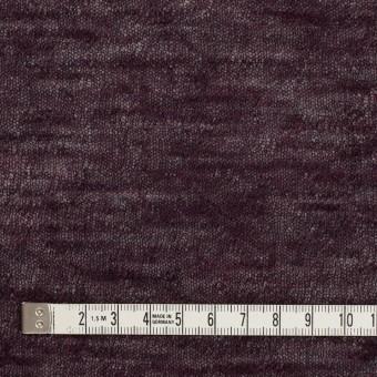 コットン&ウール×無地(ボルドー)×メッシュ&天竺ニット_全3色 サムネイル4