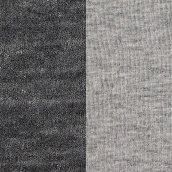 コットン&ウール×無地(グレー)×メッシュ&天竺ニット_全3色