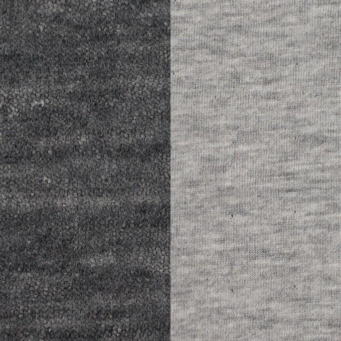 コットン&ウール×無地(グレー)×メッシュ&天竺ニット_全3色 イメージ1
