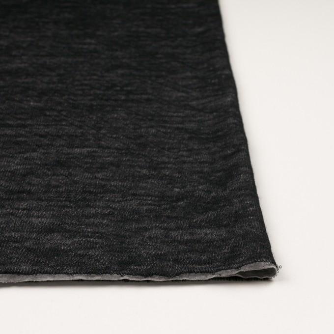 コットン&ウール×無地(ブラック)×メッシュ&天竺ニット_全3色 イメージ3
