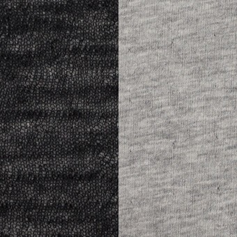 コットン&ウール×無地(ブラック)×メッシュ&天竺ニット_全3色 サムネイル1
