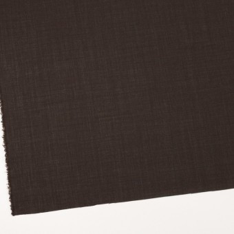 ウール&ナイロン×無地(ダークブラウン)×ボイル_イタリア製 サムネイル2
