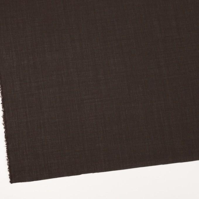 ウール&ナイロン×無地(ダークブラウン)×ボイル_イタリア製 イメージ2