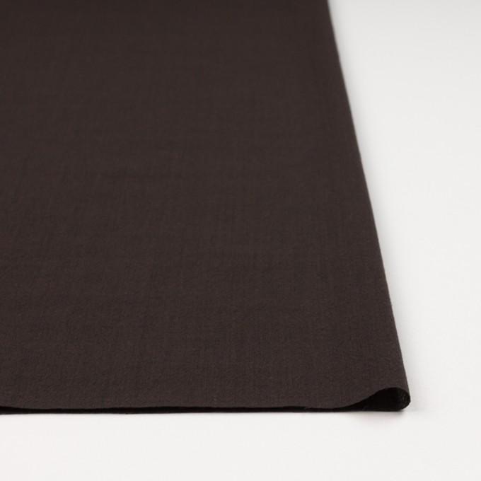 ウール&ナイロン×無地(ダークブラウン)×ボイル_イタリア製 イメージ3