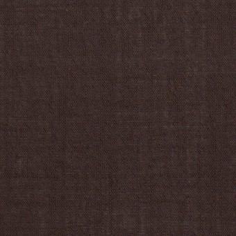 ウール&ナイロン×無地(ダークブラウン)×ボイル_イタリア製