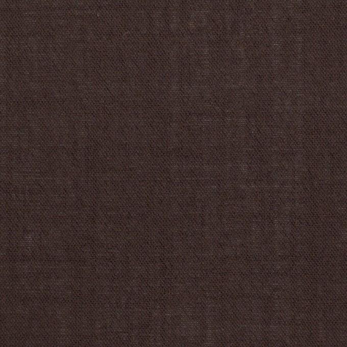 ウール&ナイロン×無地(ダークブラウン)×ボイル_イタリア製 イメージ1