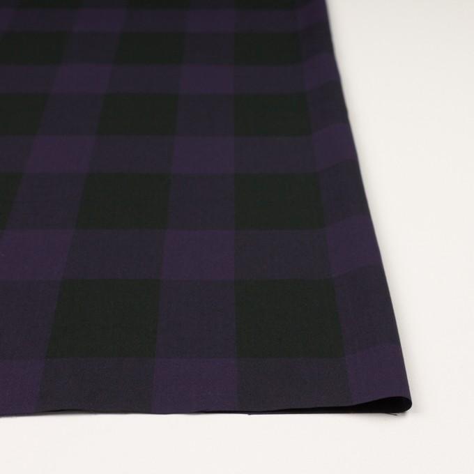 コットン×チェック(パープル&ブラック)×ボイル_イタリア製 イメージ3