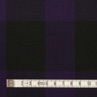コットン×チェック(パープル&ブラック)×ボイル_イタリア製 サムネイル4