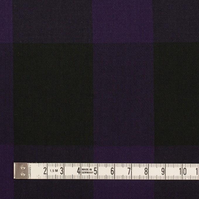 コットン×チェック(パープル&ブラック)×ボイル_イタリア製 イメージ4